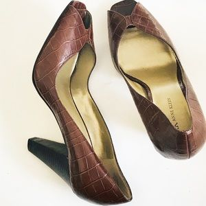 Ann Klein Open Toe | Brown Open Toe Shoe